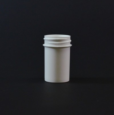 3/4 oz 33/400 Regular Wall Straight Base White PP Jar