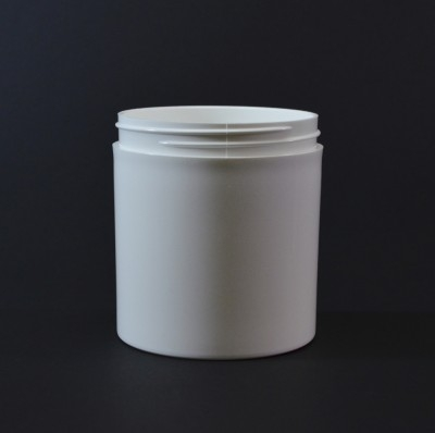 16 OZ 89/400 Thick Wall Straight Base White PP Jar - 80/Case