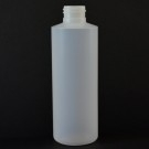 6 oz 24/410 Cylinder Round Natural HDPE Bottle