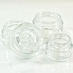 Straight Base Glass Jars