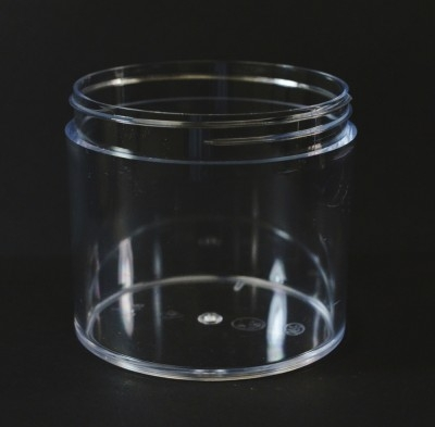 12 OZ 89/400 Thick Wall Straight Base Clear PS Jar - 75/Case