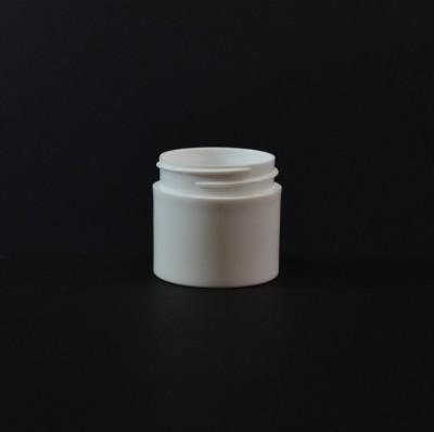 1 oz 43/400 White Thick Wall Straight Base PP Jar