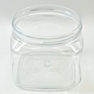 16 oz 89/400 Firenze Square Clear PET Jar