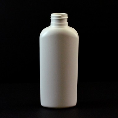 4 oz 24/410 Classic Oval White HDPE Bottle
