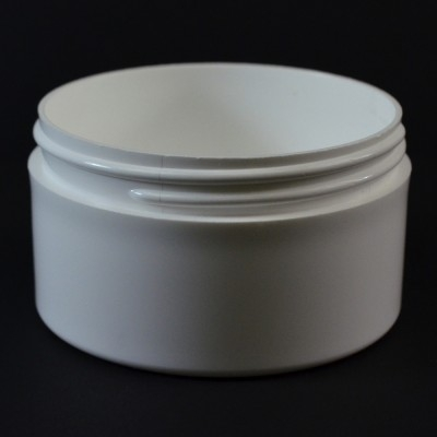 6 OZ 89/400 Thick Wall Straight Base White PP Jar - 140/Case