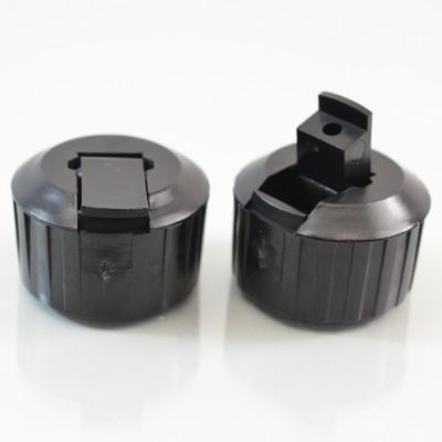 28/400 Black Dispensing Spouted Cap PS-128 Land Seal PP