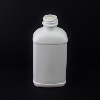 8 oz 28/400 White Blake Oblong HDPE Bottle