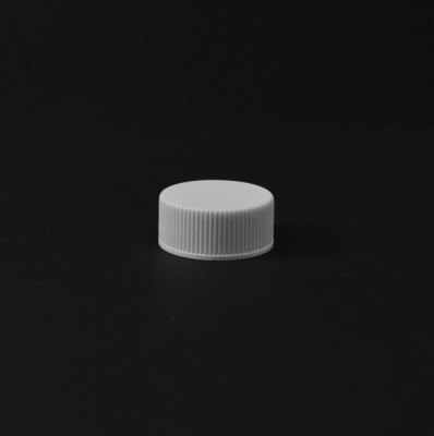22/400 White Ribbed Straight PP Cap / PS Liner - 8500/Case