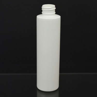 5 oz 24/410 Cylinder Round White HDPE Bottle