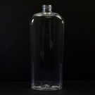 16 oz 24/410 Classic Oval Clear PET Bottle