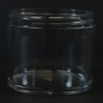 200 ML 75 MM Heavy Wall Low Profile Clear PETG Jar