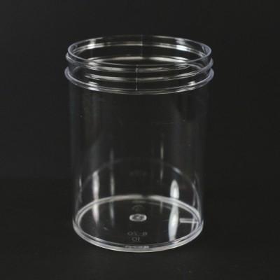 8 oz 70/400 Regular Wall Straight Base Clear PS Jar
