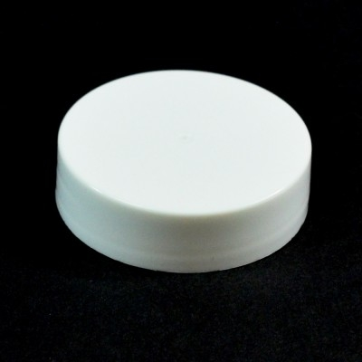 38/400 White Smooth Straight PP Cap / Unlined