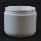 4 oz 70/400 Double Wall Round Base White PP Jar