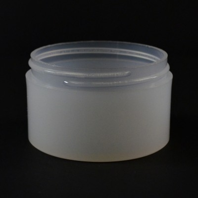 3 oz 70/400 Natural Thick Wall Straight Base PP Jar