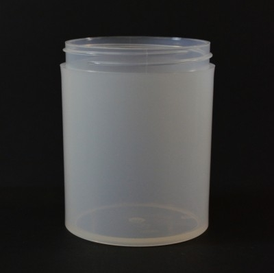 8 oz 70/400 Natural Thick Wall Straight Base PP Jar