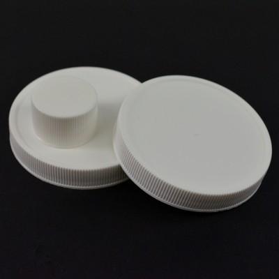 Ribbed White PP Caps