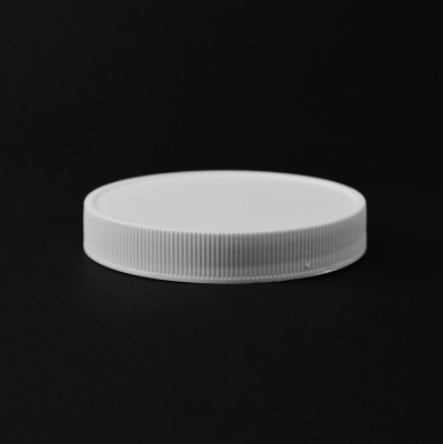 83/400 White Ribbed Straight PP Cap / PS Liner - 500/Case