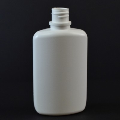 2 oz 18/410 W/R Drug Oval White HDPE Bottle