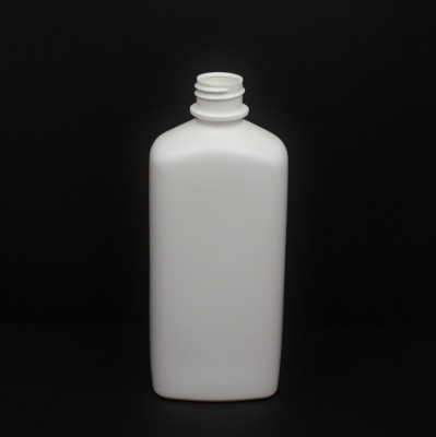 16 oz 28/410 White Blake SS Oblong HDPE Bottle