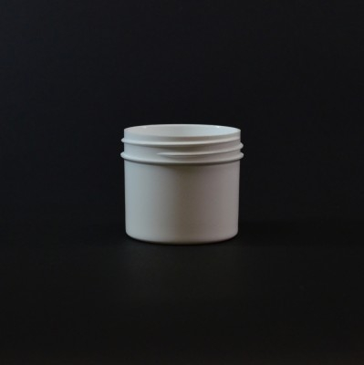 2 oz 53/400 Regular Wall Straight Base White PP Jar