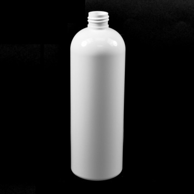 16 oz 24/410 Cosmo Round White PET Bottle