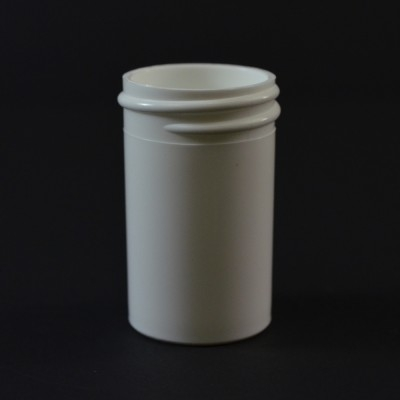 7/8 oz 33/400 Regular Wall Straight Base White PP Jar