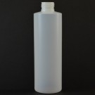 8 OZ 24/410 Cylinder Round Natural HDPE Bottle  - 500/case