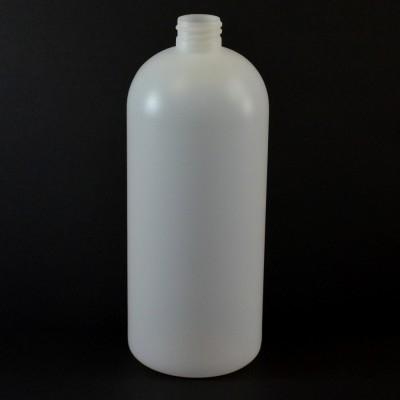 32 OZ 28/410 Royalty Round Natural HDPE Bottle - 128/case