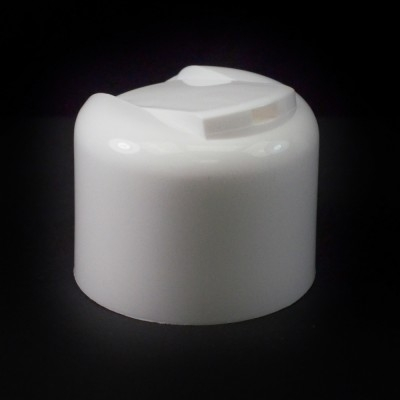 24/410 Smooth White Presstop Symmetrical Dispensing Cap PP to 8 oz