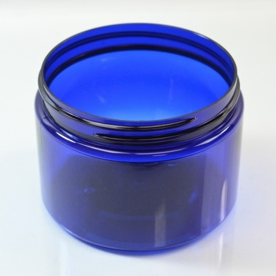 12 oz 89/400 Wide Mouth Cobalt Blue PET Jar