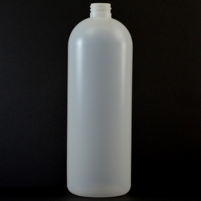 32 oz 28/410 Imperial Round Natural HDPE Bottle