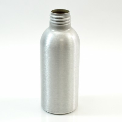 4 oz Brushed Silver 24/410 Aluminum, 45x115 Bottle