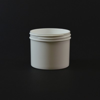 4 oz 70/400 Regular Wall Straight Base White PP Jar