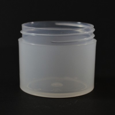 2 oz 53/400 Natural Thick Wall Straight Base PP Jar