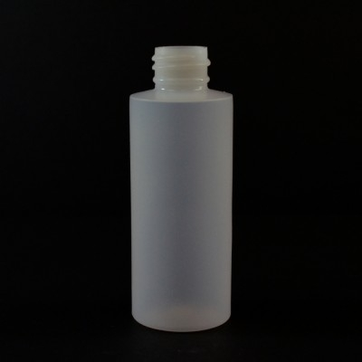 2 oz 20/410 Cylinder Round Natural HDPE Bottle