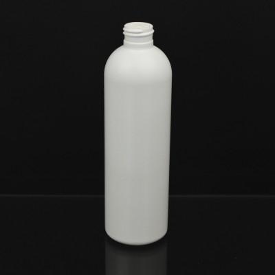12 oz 24/410 Royalty Round White HDPE Bottle