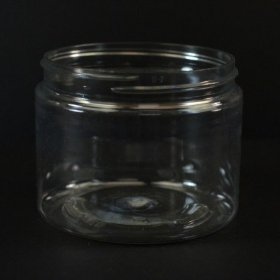 6 oz 70/400 Wide Mouth Clear PET Jar
