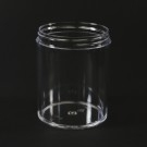 8 oz 70/400 Clear Thick Wall Straight Base PS Jar