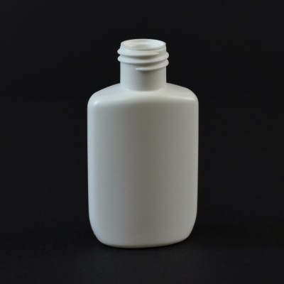 0.5 oz 15/415 Drug Oval White HDPE Bottle