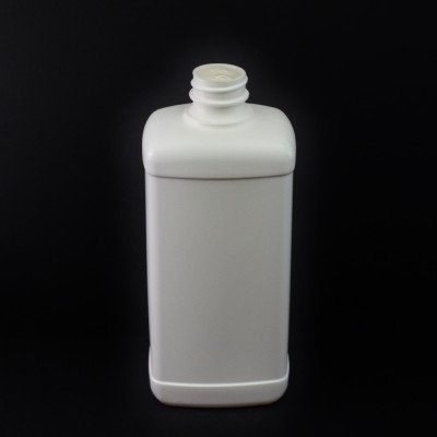 16 oz 28/400 White Blake Oblong HDPE Bottle