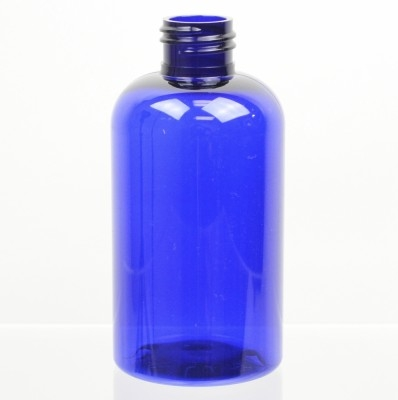 6 oz 24/410 Squat Boston Round Cobalt PET Bottle