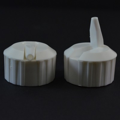 28/400 White Dispensing Spouted Cap PS-113 Land Seal PP
