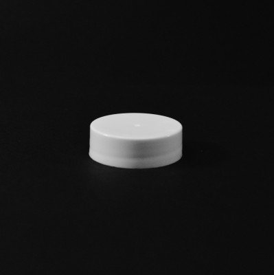 33/400 White Smooth Straight PP Cap / PS Liner - 4000/Case