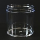 6 OZ 70/400 Thick Wall Straight Base Clear PS Jar - 168/Case