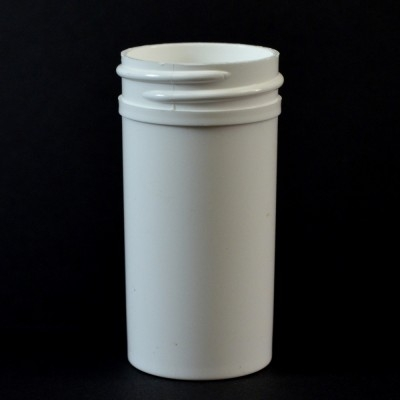 1.5 oz 38/400 Regular Wall Straight Base White PP Jar