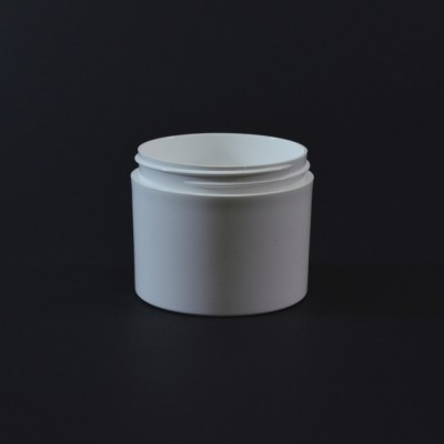 4 oz 70/400 White Thick Wall Straight Base PP Jar