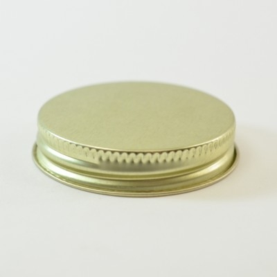 48/400 CT Gold Gold Metal Continuous Thread Caps