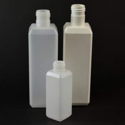 Beveled Plastic Bottles