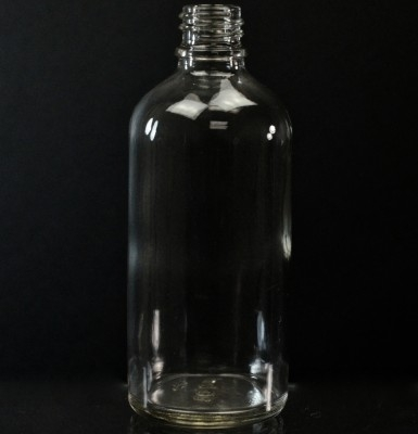 100 ml Euro Dropper 18-DIN Clear Glass Bottle